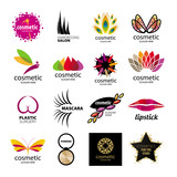 Fototapety Collection of vector logos for cosmetics and body care