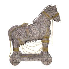 cheval de troie bascule et bois
