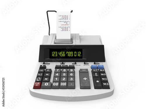 Calculator with Printed Receipt