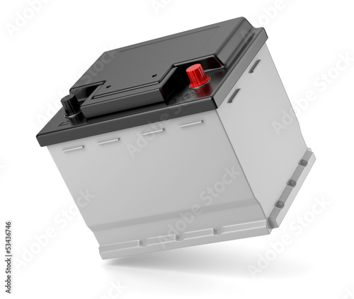 Leinwandbild Motiv Batterie de voiture sur fond blanc 3