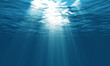 Leinwanddruck Bild - light underwater in the ocean