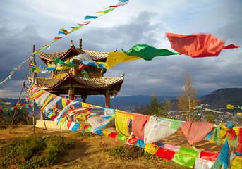 Chinese pagoda. Tibet