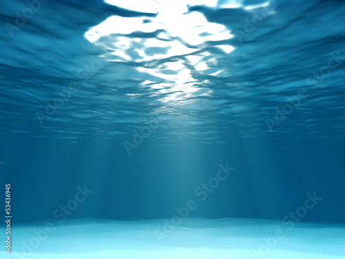 light underwater in the ocean