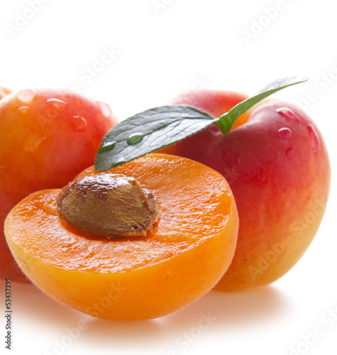 Fresh apricots.