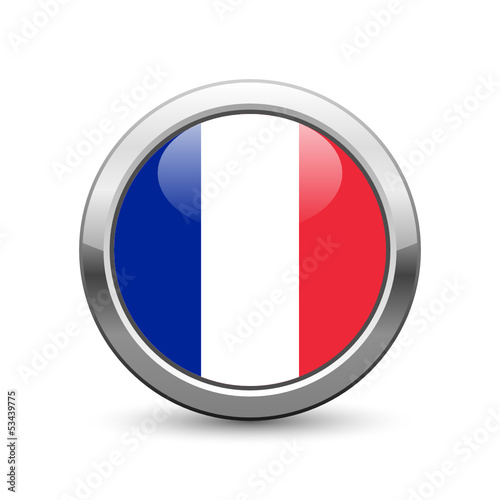French flag icon web button