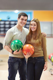 Couple in bowling