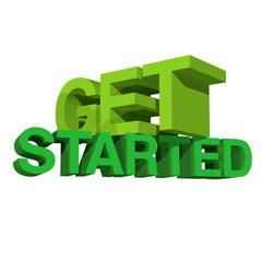 Get started white BG