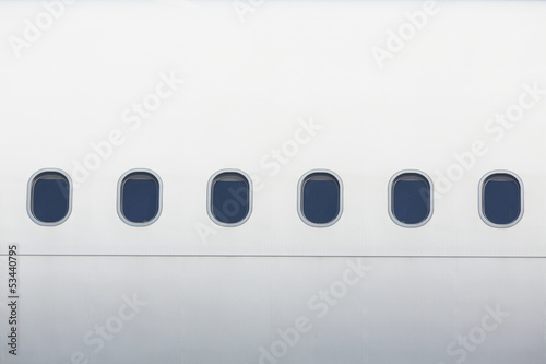 Windows of the airplane