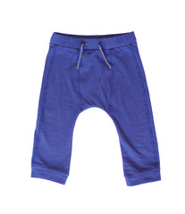 baby blue trousers on white background