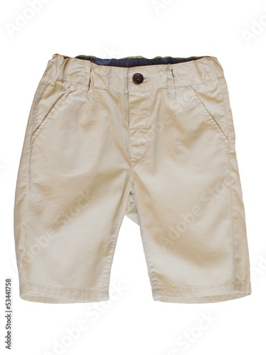 baby summer trousers on white background