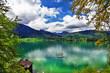 emerald crystal Alpine lakes. Austria. st Wolfgang