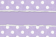 Purple Polka Dot and Striped Torn Background for your message or