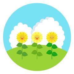 smiling sunflower