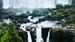 Iguassu Falls,waterfalls of the world.View from Brazilian side