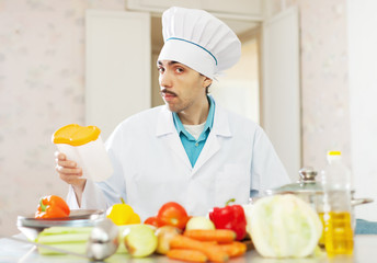 Male caucasian cook