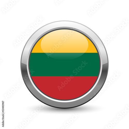 Lithuanian flag icon web button