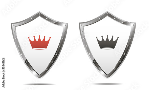 Shields with crown. Vector