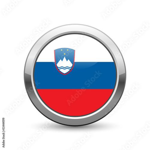 Slovenian flag icon web button
