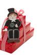 Schornsteinfeger bringen Glück - Geschenk in Rot isoliert