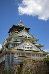 Castle, Osaka, Japan