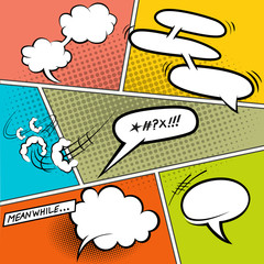 Retro Comic Speech Bubbles
