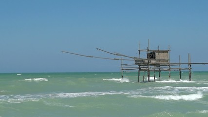 trabocco on the sea