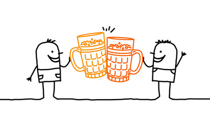 men & beer