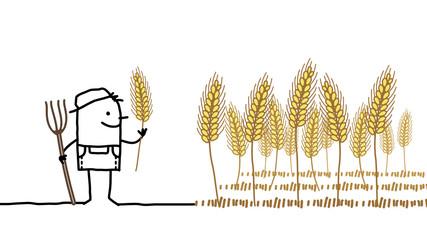 farmer & wheat