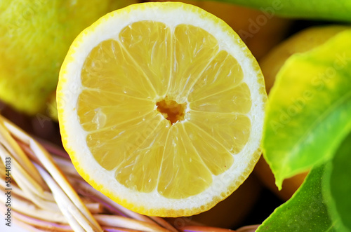 Slice of ripe lemon © inacio pires