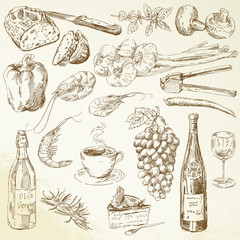food collection - drawing