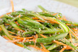 Asparagus salad with carrot and hemp seeds