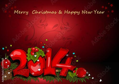 Weihnachten, Silvesterkarte 2014
