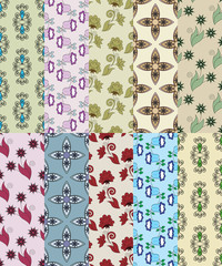 set of seamless simple patterns for scrapbooking