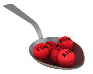 Вредные пищевые добавки в ложке
