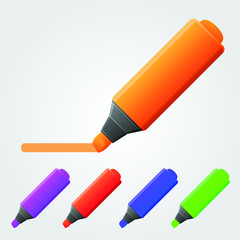 Realistic multi-colored markers