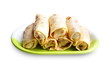 Crepes stuffed with meat and vegetables
