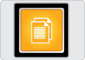 document yellow square web icon
