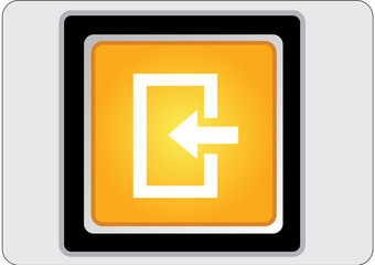 enter yellow square web icon