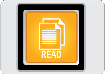 read yellow square web icon