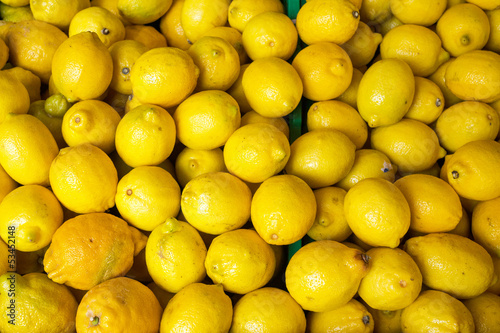 canvas print picture Fresh lemon for sale