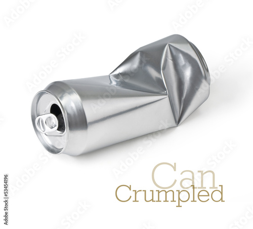 crumpled empty can
