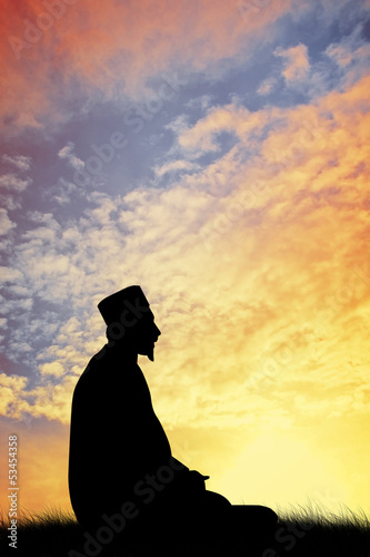 Muslim man prayer