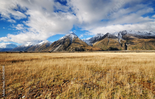 View of Southern Alps, Aoraki/mt. cook national park
