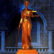 Themis standing in the court