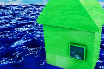 Hochwasser - 3D Render