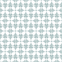 Vector geometric gray ikat seamless pattern background with hand