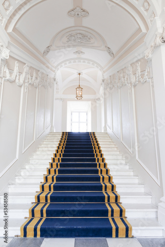 Foto op Aluminium Trappen Stairwell in the Polish palace. Royal castle in Warsaw