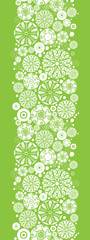 Vector abstract green and white circles vertical seamless