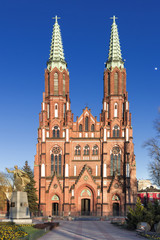 Sights of Poland. Neo - Gothic cathedral st Florian in Warsaw.