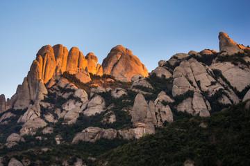 Vista del Serrat de les Barretines. Montserrat.